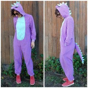 Xhilaration | dragon/dinosaur fleece onesie
